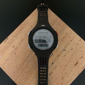 Adidas black digital sports watch (unisex)